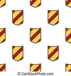 Shields seamless pattern. Guard, security logo, protection heraldic element