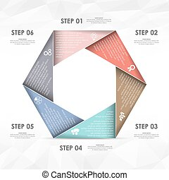 business info graphic template - colored template of...