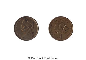 1, Grego, dracma, moeda