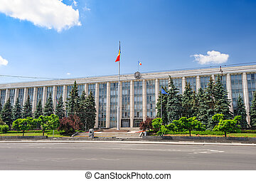 Gouvernment Building in Chisinau, Republic of Moldova - view...