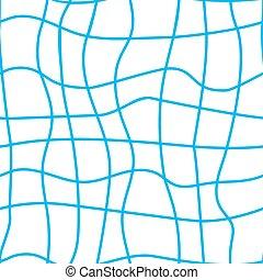 Blue seine seamless pattern