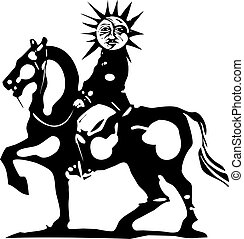 Horse with Sun King
