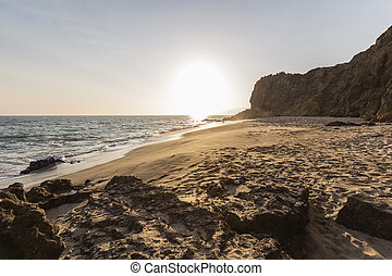Secluded Pirates Cove Beach in Malibu Califoria