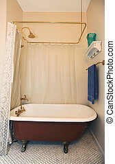 Tub in a bathroom - old tub
