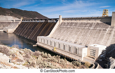 Grand Coulee Dam Hydroelectric Power Station Washington...