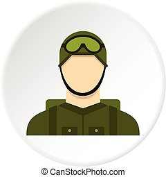 Military paratrooper icon circle - Military paratrooper icon...