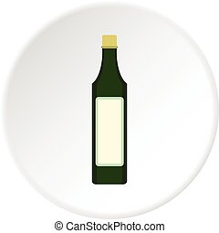 Vinegar bottle icon circle - Vinegar bottle icon in flat...