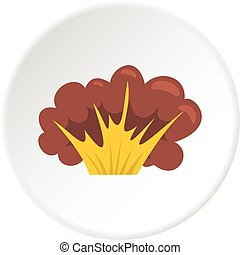 High powered explosion icon circle - High powered explosion...