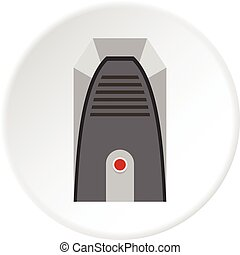 Cool and cold climate control system icon circle