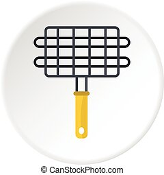 Steel grid for grill icon circle
