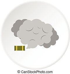 Tear gas canister icon circle - Tear gas canister icon in...