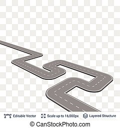 Road construction element. - Connectable road piece with...