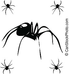 black widows vector illustration isolated on white