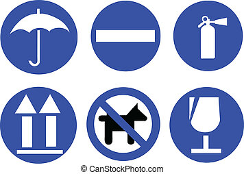 blue traffic signs color vector