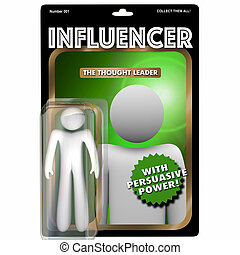 Influencer Person Influential Customer Action Figure 3d...