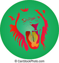 angry lion icon
