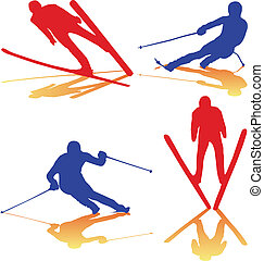 winter sports color vector