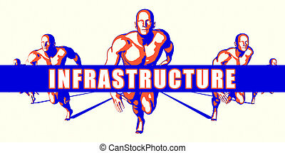 Infrastructure as a Competition Concept Illustration Art