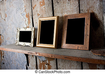 picture frames - selection of empty blank picture frames in...
