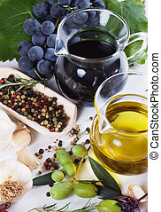 Olive oil and balsamic vinegar - Extra virgin olive oil and...