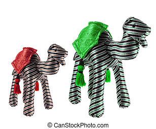 Camel Soft Toys on White Background