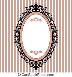 Decorative oval vintage frame - Decorativ