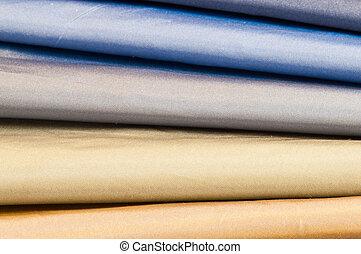 Set of satin textiles - Set of silk or satin textiles in...