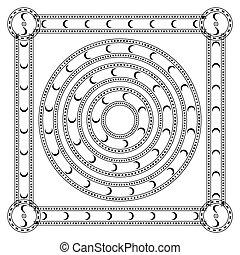 Round ornament pattern mandala. - Round ornament pattern...