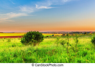 View on russian countryside