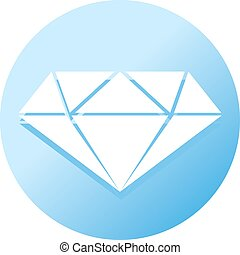 blue flat diamond symbol