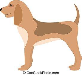 Vector illustration of a cartoon hunting dog puppy - Vector...