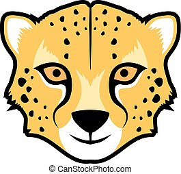 funny gepard face - Creative design of funny gepard face