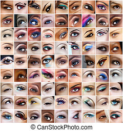 81 eyes pictures. - collection of 81 pictures of eyes with...