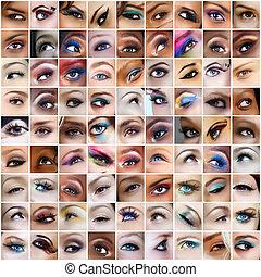 81, ojos, cuadros
