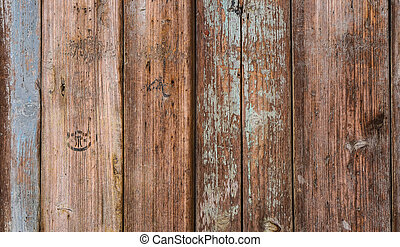 Grung wood wall with old paint fade off texture background