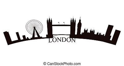 Isolated London skyline on a white background, Vector...