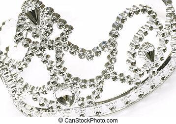 tiara, o, corona, detalles, blanco, Plano de fondo