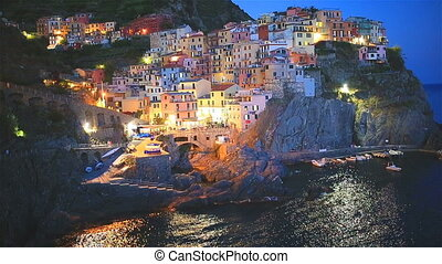 Beautiful and cozy village of Manarola in the Cinque Terre...