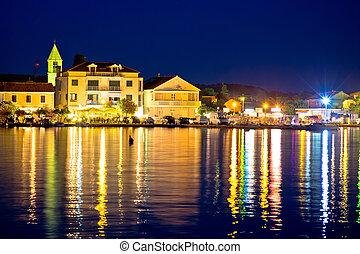Sukosan Adriatic village evening view, Dalmatia region of...