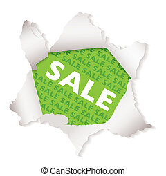 Sale paper explode green