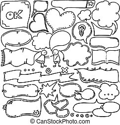 Thought & speech bubbles