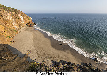 Malibu California Pirates Cove Overlook - Afternoon view of...