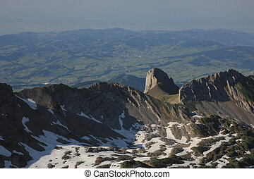 Rocks seen from Mount Santis, Appenzell Canton.