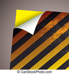 wallpaper paper curl stripe - Yellow stripe card background...