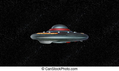 Unidentified Flying Object - 3D CG rendering of the UFO.