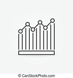 Bar graph icon. Vector simple chart sign in thin line style