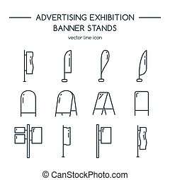 Advertising billboards and banner display, exhibition...