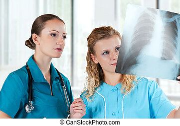 Doctors with x-ray