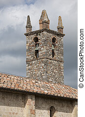 bell tower - Old medieval bell tower in tuscany