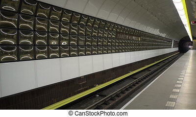 Train Arriving at an Underground Station